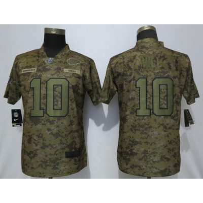 Nike Chiefs 10 Tyreek Hill 2018 Camo Salute To Service Limited Women Jersey