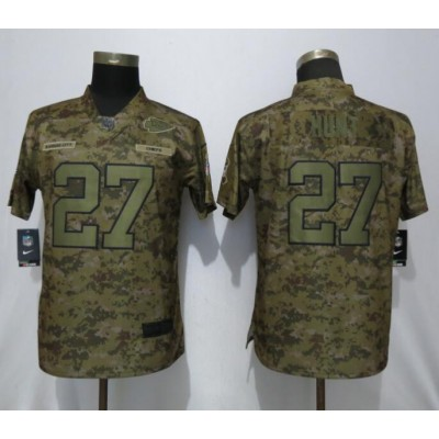 Nike Chiefs 27 Kareem Hunt 2018 Camo Salute To Service Limited Women Jersey