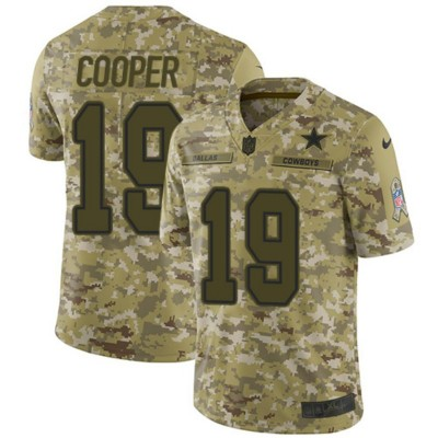 Nike Cowboys 19 Amari Cooper 2018 Camo Salute To Service Limited Women Jersey