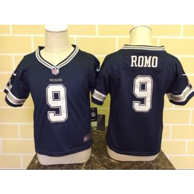 Nike Cowboys 9 Tony Romo Blue NFL Toddler Jersey