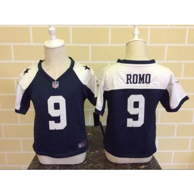 Nike Cowboys 9 Tony Romo Blue Thanksgiving NFL Toddler Jersey