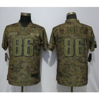 Nike Eagles 86 Zach Ertz 2018 Camo Salute To Service Limited Women Jersey