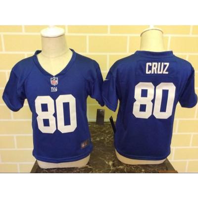 Nike Giants 80 Victor Cruz Royal NFL Toddler Jersey