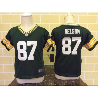 Nike Packers 87 Jordy Nelson Green Toddler Jersey