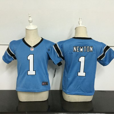 Nike Panthers 1 Cam Newton Blue NFL Toddler Jersey