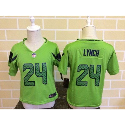 Nike Seahawks 24 Marshawn Lynch Green NFL Toddler Jersey