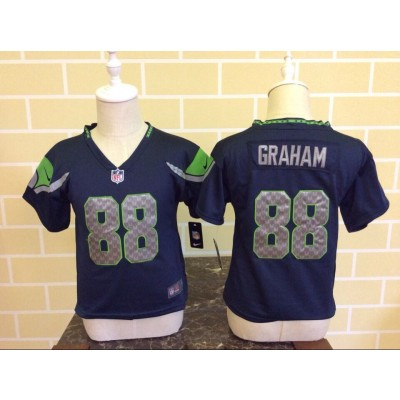 Nike Seahawks 88 Jimmy Graham Blue NFL Toddler Jersey