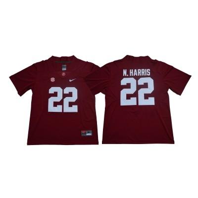 NCAA Alabama Crimson Tide 22 Najee Harris Red Legend Limited Men Jersey