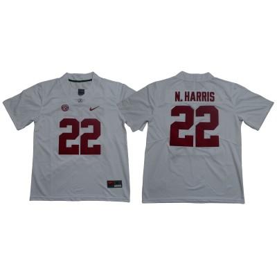 NCAA Alabama Crimson Tide 22 Najee Harris White Legend Limited Men Jersey