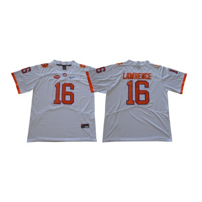 NCAA Clemson Tigers 16 Trevor Lawrence White College Football Legend Limited Men Jersey