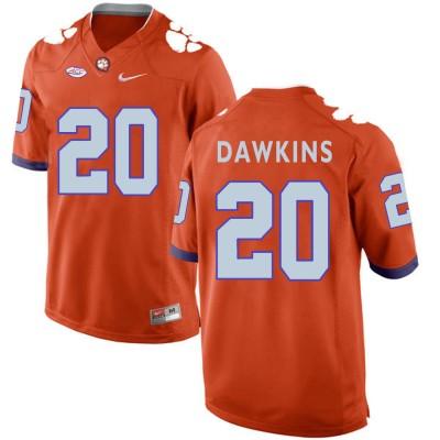 NCAA Clemson Tigers 20 Brian Dawkins Orange College Football Men Jersey