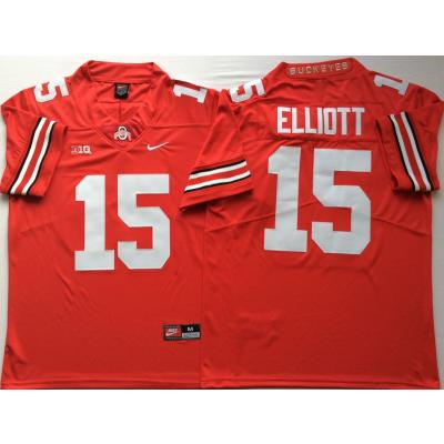 c7aa8923958 NCAA Ohio State Buckeyes 15 Ezekiel Elliott Red Legend Limited Men Jersey