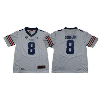 NCAA Auburn Tigers 8 Jarrett Stidham White College Football Men Jersey