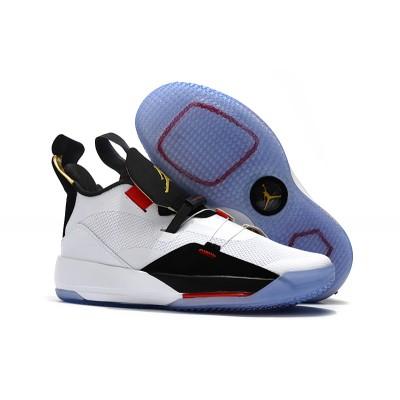 Air Jordan 33 Future of Flight White Metallic Gold Black Vast Grey Shoes
