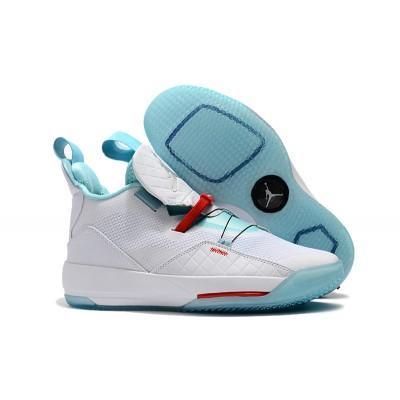 Air Jordan 33 Guo Ailun PE White Jade-Red Shoes