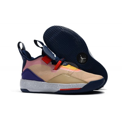 Air Jordan 33 Visible Utility Particle Beige University Red Infrared Obsidian Shoes