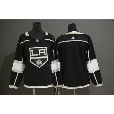 NHL Kings Blank Black Adidas Women Jersey