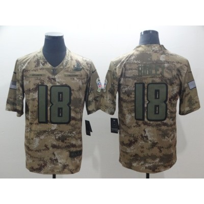 Nike Falcons 18 Calvin Ridley 2018 Camo Salute to Service Limited Men Jersey