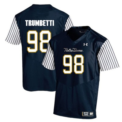 NCAA Notre Dame Fighting Irish 98 Andrew Trumbetti Navy College Football Men Jersey