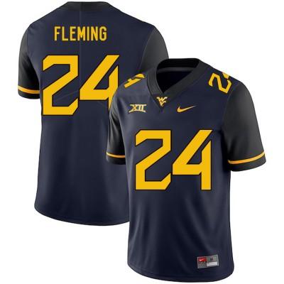 NCAA West Virginia Mountaineers 24 Maurice Fleming Navy College Football Men Jersey