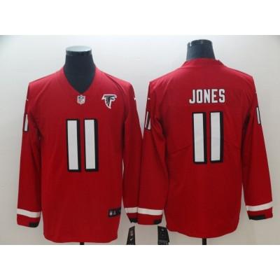Nike Faclons 11 Julio Jones Red Therma Long Sleeve Men Jersey