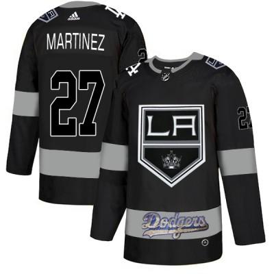 NHL LA Kings With Dodgers 27 Alec Martinez Black Adidas Men Jersey