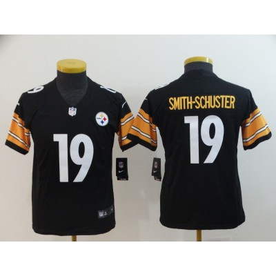 Nike Steelers 19 JuJu Smith-Schuster Black Vapor Untouchable Youth Jersey