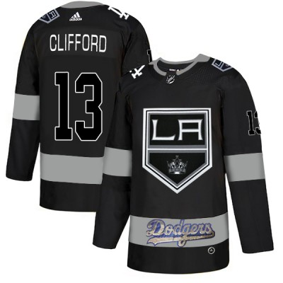 NHL LA Kings With Dodgers 13 Kyle Clifford Black Adidas Men Jersey