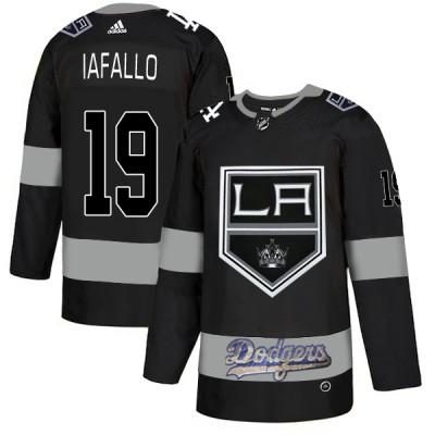 NHL LA Kings With Dodgers 19 Alex Iafallo Black Adidas Men Jersey