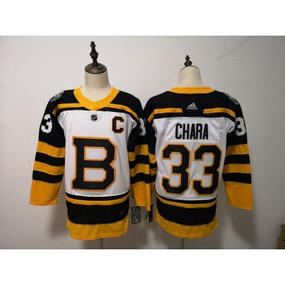 NHL Bruins 33 Zdeno Chara White 2019 Winter Classic Adidas Men Jersey