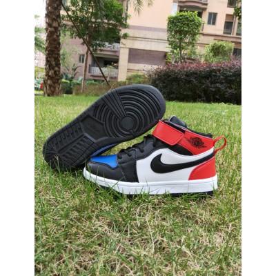 Air Jordan 1 Black Blue Kids Shoes