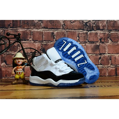 Air Jordan 11 Black White Kids Shoes