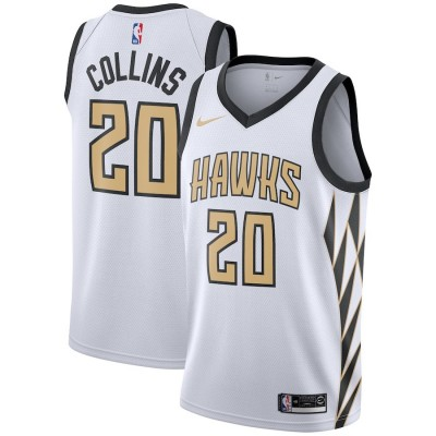 NBA Hawks 20 John Collins White 2018-19 City Edition Swingman Nike Men Jersey