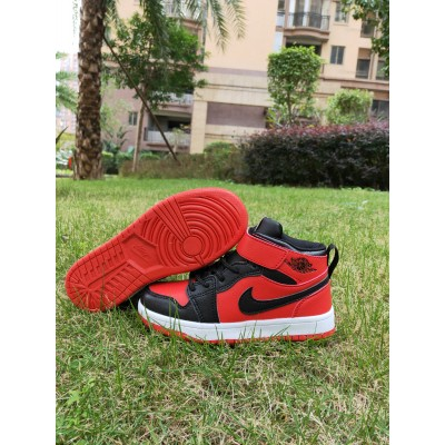 Air Jordan 1 Black Red Kids Shoes