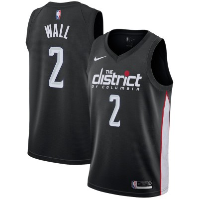 NBA Wizards 2 John Wall Black 2018-19 City Edition Swingman Nike Men Jersey
