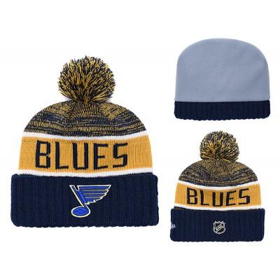 NHL Blues Team Logo Blue Knit Hat YD