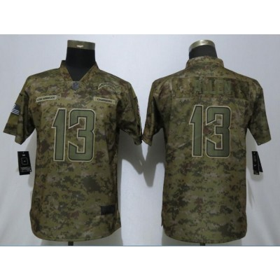 Nike Chargers 13 Keenan Allen 2018 Camo Salute to Service Limited Women Jersey