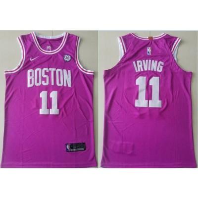 NBA Celtics 11 Kyrie Irving Purple Nike Men Jersey
