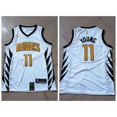 NBA Hawks 11 Trae Young White 2018-19 City Edition Swingman Nike Men Jersey
