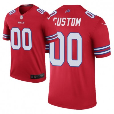 Nike Buffalo Bills  Red Color Rush Customized Limited Men Jersey