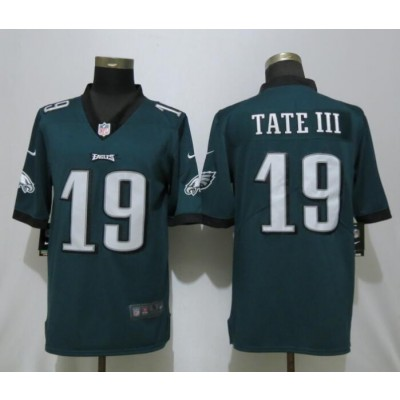 Nike Eagles 19 Golden Tate III Green Vapor Untouchable Limited Men Jersey