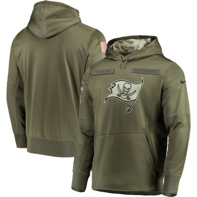 NFL Tampa Bay Buccaneers Nike 2018 Salute to Service  Sideline Therma Performance Pullover Hoodie Olive