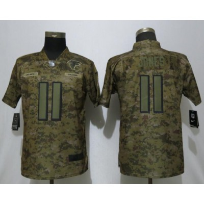 Nike Falcons 11 Julio Jones 2018 Camo Salute to Service Limited Women Jersey