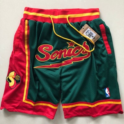 Nike Seattle Super Sonics Green Mesh Retro Shorts
