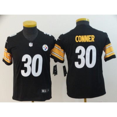 Nike Steelers 30 James Conner Black Vapor Untouchable Limited Youth Jersey