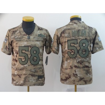 Nike Broncos 58 Von Miller 2018 Camo Salute to Service Limited Youth Jersey