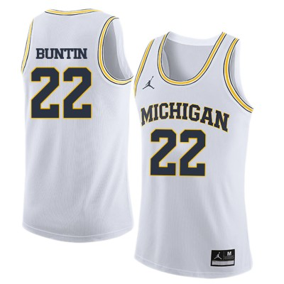 NCAA University of Michigan 22 Bill Buntin White College Basketball Men Jersey