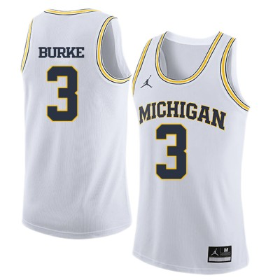 NCAA University of Michigan 3 Trey Burke White College Basketball Men Jersey