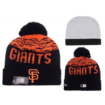 MLB Giants Team Logo Orange & Black Knit Hat YD