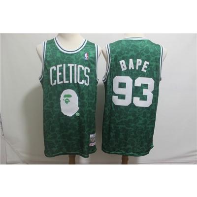 NBA Celtic 93 Bape Easy Monkey Joint Green Men Jersey